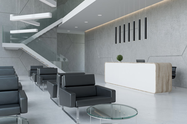 Hard Floor Cleaning Office Reception